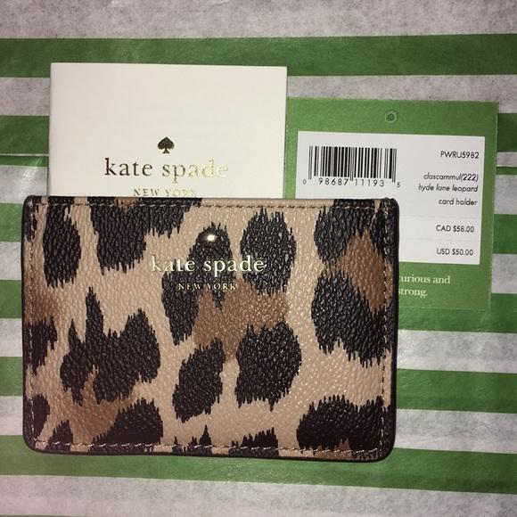 detailed look 88e76 bf0e9 ♠️ NWT Kate Spade Leopard Card Holder ♠️ NWT